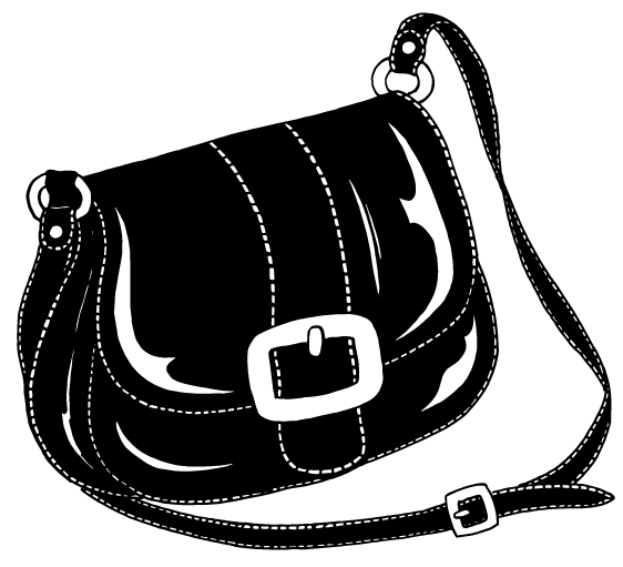 dessin sac cuir