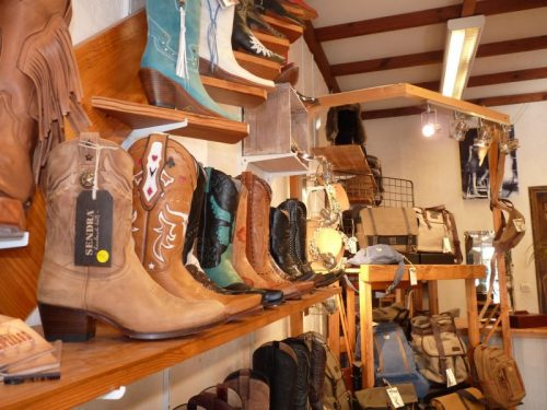 photo de la boutique, bottes